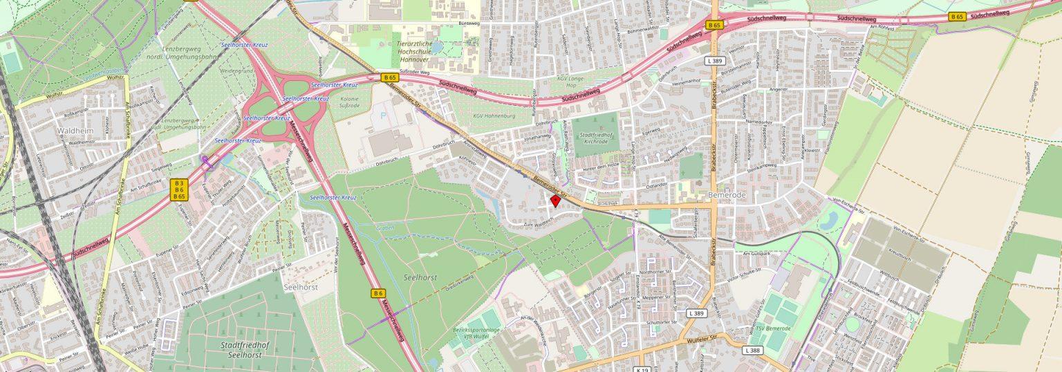 Kanzlei Martina Notthoff Karte Standort Hannover Rhododendronweg 4